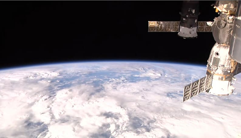 You can see the International Space Station's view of Earth right now