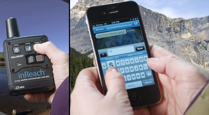 Delorme's inReach two-way satellite communicator gets iOS support, sends iPhone texts from Timbuktu (video)