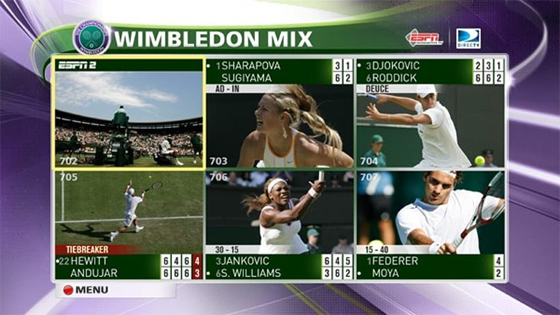 DirecTV keeps multi-screen trend alive with Wimbledon Interactive coverage