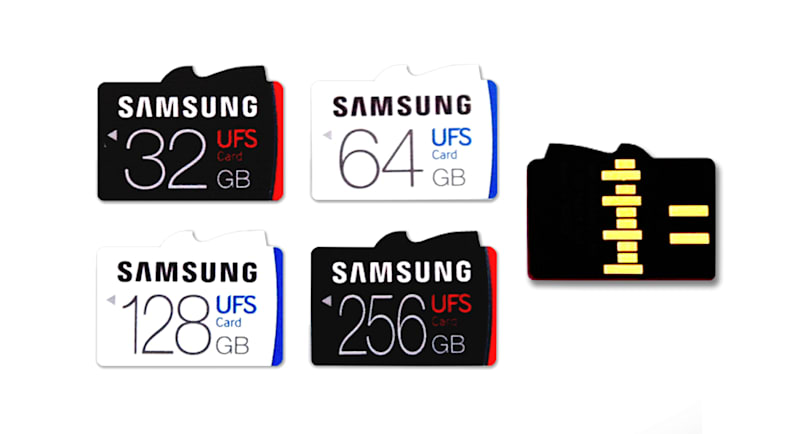 Samsung's world-first UFS memory cards are blazing fast