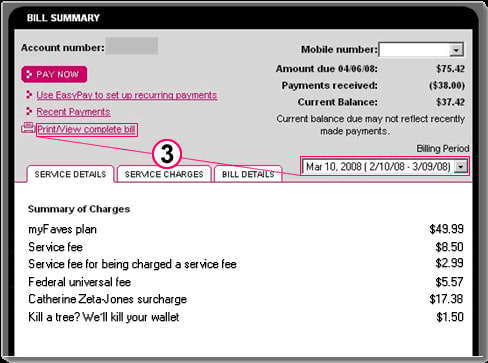 From the T-Mobile app, on a T-Mobile phone From your T-Mobile phone: Call: If you are calling about a technical issue with your T-Mobile service, please call from a different phone so that we can troubleshoot with you. You can pay your bill online, or by phone at