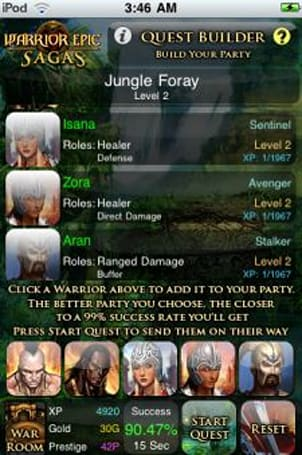 Warrior Epic MMO releases iPhone tie-in