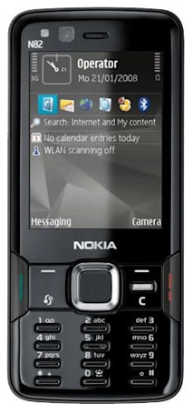 Nokia N82, now in black