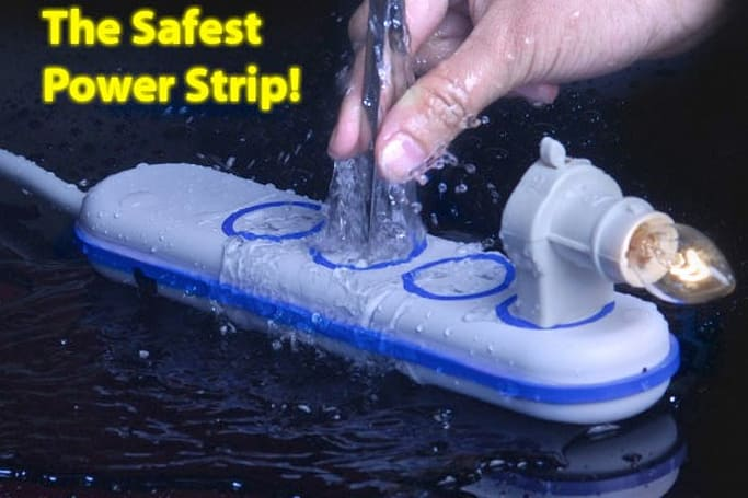 Wet Circuits waterproof power strip presented by all-time best dubbed videos