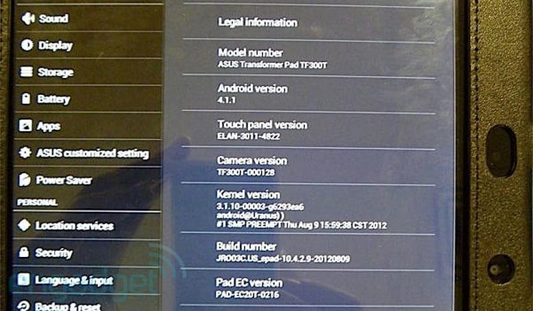 ASUS Transformer Pad TF300 gets Jelly Bean update, TF700 looks at watch impatiently