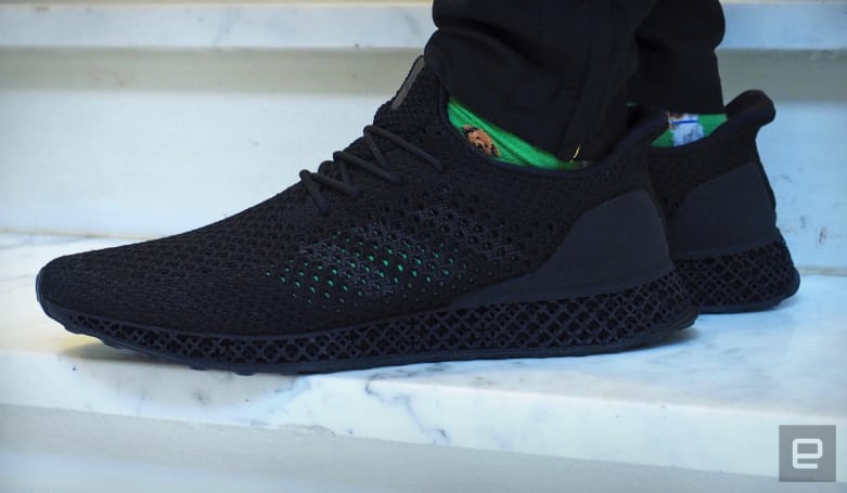 Taking a walk in Adidas' 3D-printed running shoes