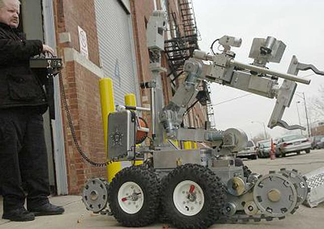 Chicago invests in bomb-defusing robots that can't climb up two steps