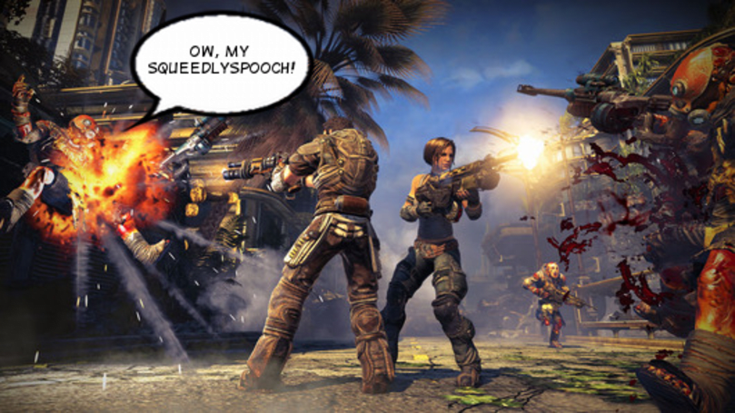 Bulletstorm devs shocked by how much swearing was in their own game