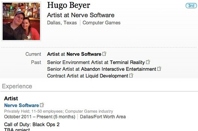 Treyarch contract art studio employee lists 'Black Ops 2' among current projects [update: pulled!]