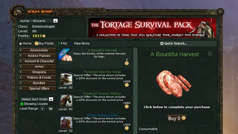 Age of Conan long-term subs available, Funcom gifting weekly consumable packs