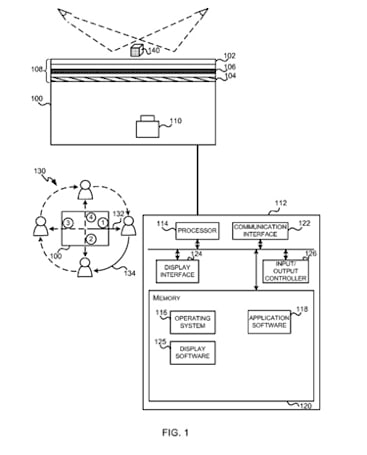 Microsoft patent application could see a touchscreen tabletop that caters to the eye of the beholder