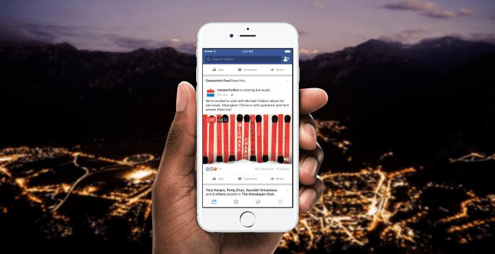 Resultado de imagem para facebook live audio