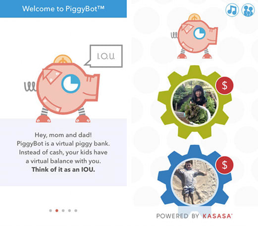 Daily App: PiggyBot is a colorful allowance tracker for both parents and kids