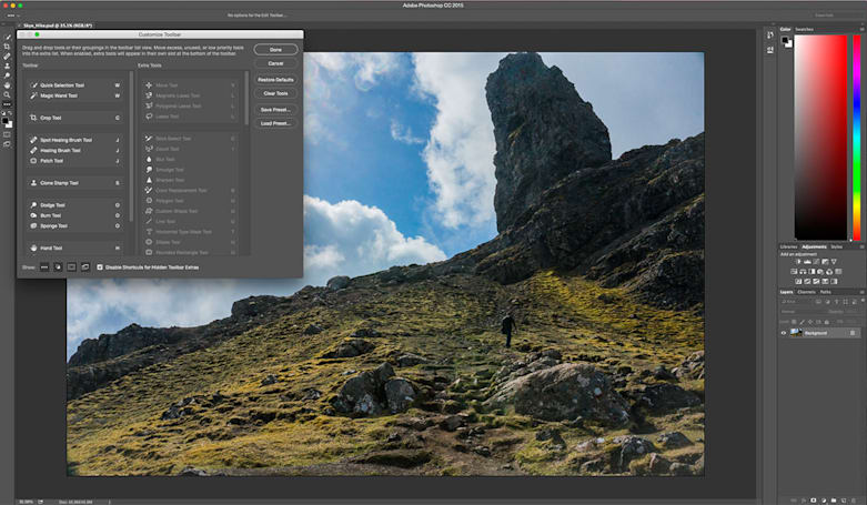Adobe Photoshop update brings custom toolbars and artboards