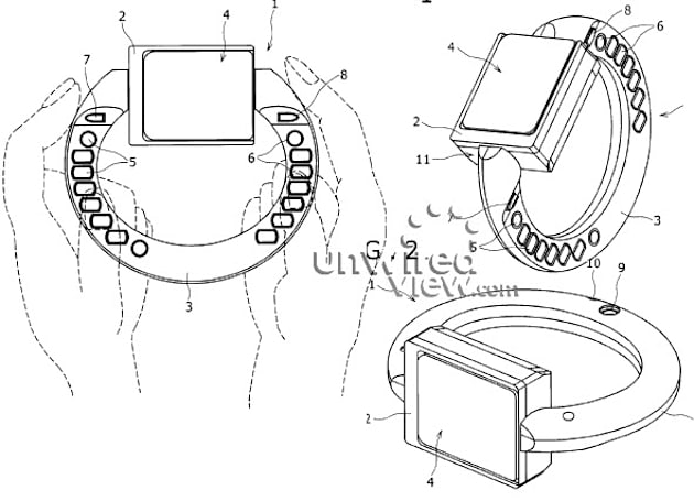 Sony Ericsson bracelet phone concept unearthed in patent app