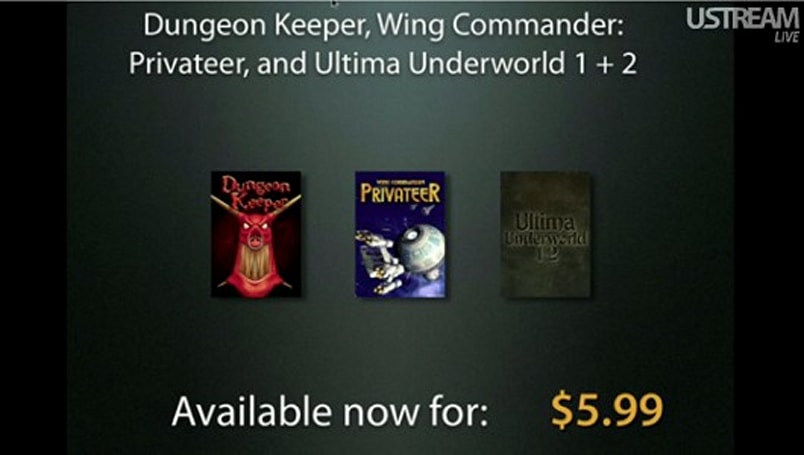 EA games now on GOG, starting with Privateer, Dungeon Keeper, and Ultima Underworld