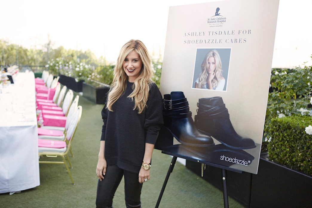 Ashley Tisdale partners with ShoeDazzle with a bootie to benefit St. Jude