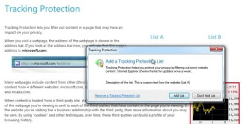Internet Explorer 9 privacy measures to include Tracking Protection