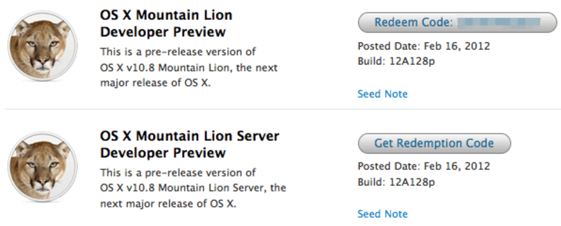Apple unleashes OS X Mountain Lion Preview to Mac Developer Program