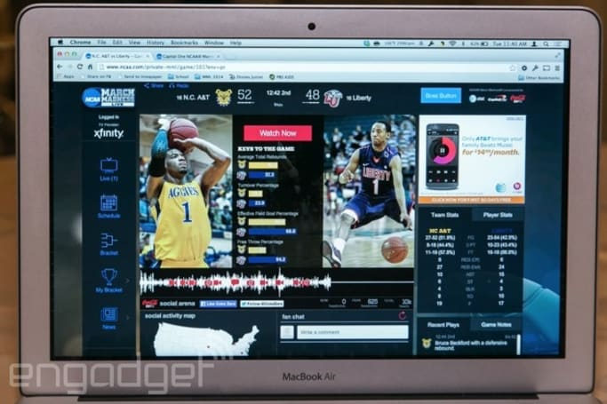 March Madness Live 2014: new apps, redesigned brackets and more social features