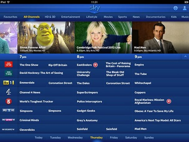 Sky+ iPad app update brings remote control and DVR scheduling