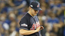 Cleveland pitcher leaves playoff game due to drone injury