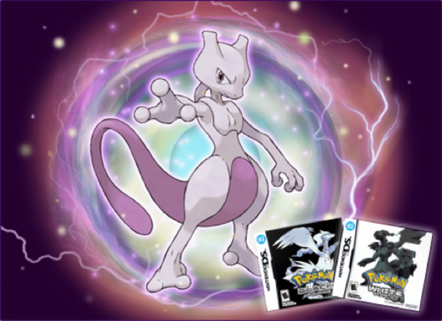 Catch Mewtwo in Pokemon White and Black starting on Feb. 12