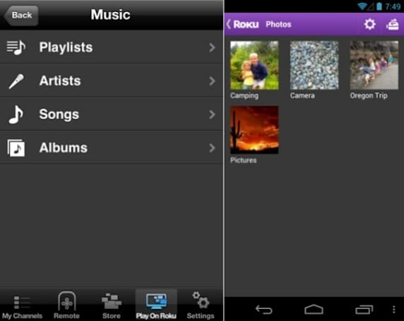 Roku's official iOS and Android remote apps add 'Play on Roku' to stream music and pics