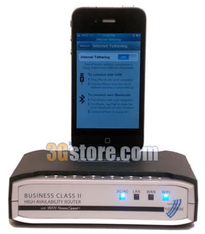 Nexaria BC2 router supports iPhone tethering for some reason (video)
