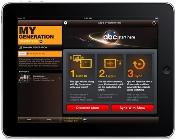 ABC app eavesdrops on your TV to synchronize interactive content using Nielsen tech (video)