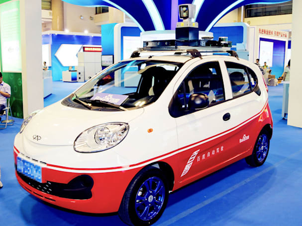 Baidu's all-electric self-driving car is a modified Chery EQ