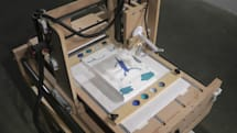 Interactive Robotic Painting Machine begs the question: Art for art's sake, or for its master's? (video)
