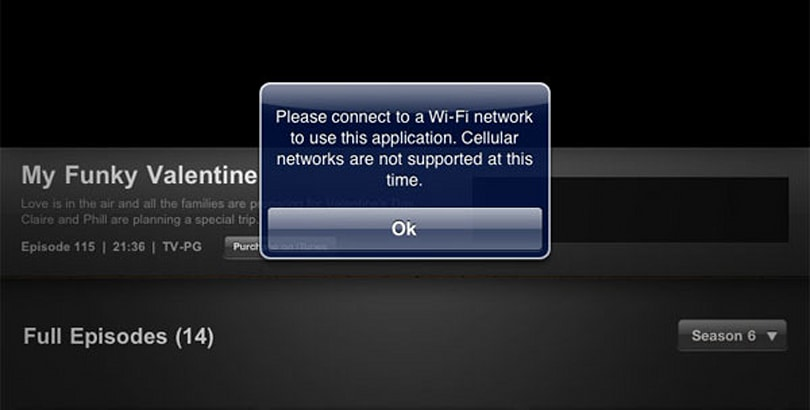 iPad 3G denies ABC player, downsamples iTunes store video previews over AT&T