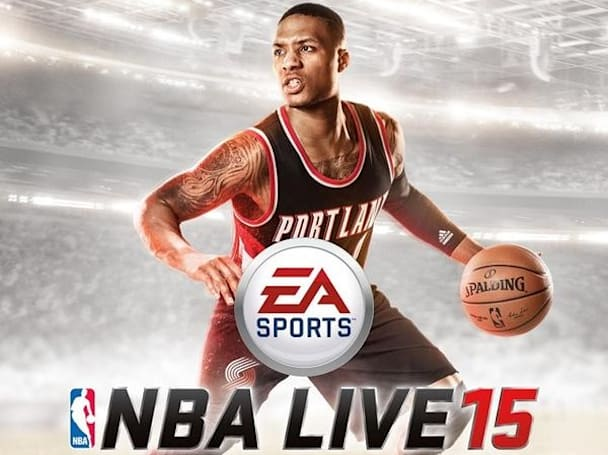 Damian Lillard trail-blazes to NBA Live 15's cover