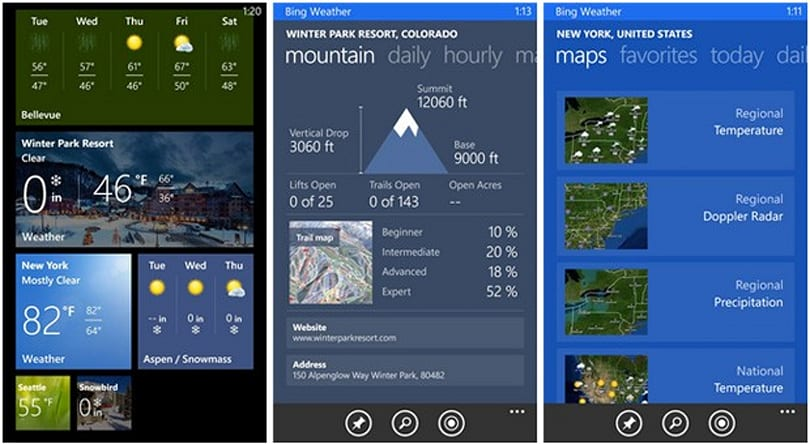 Bing Sports and Weather apps for WP8 add notifications for more sports, weather
