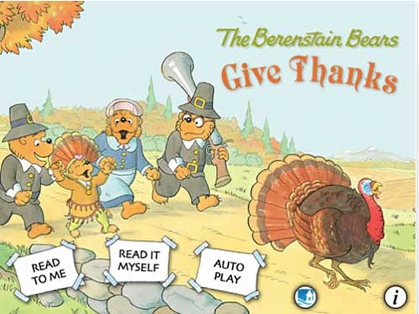 Just in time for Thanksgiving, The Berenstain Bears Give Thanks