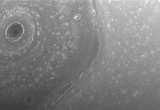 NASA's Cassini spacecraft sent photos of Saturn's north pole