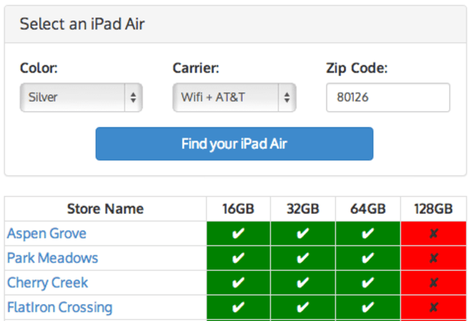 Apple-Tracker.com creates online tool for searching iPad Air availability