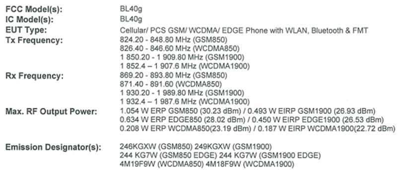 LG BL40 passes FCC again, this time with US 3G very much enabled