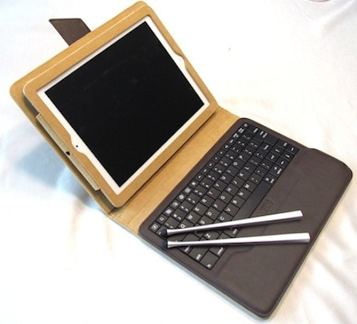 IPEVO Typi folio case and Chopstakes styli for iPad