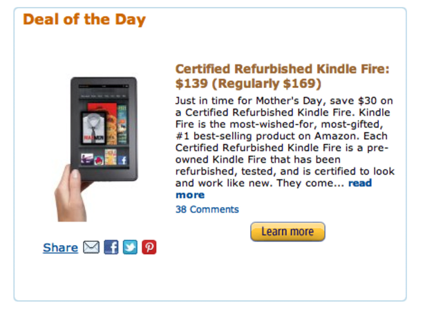 It's back! Amazon's $139 refurbished Kindle Fire deal returns for one more day