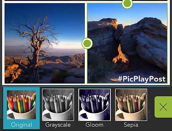 PicPlayPost is a versatile little collage maker for iOS