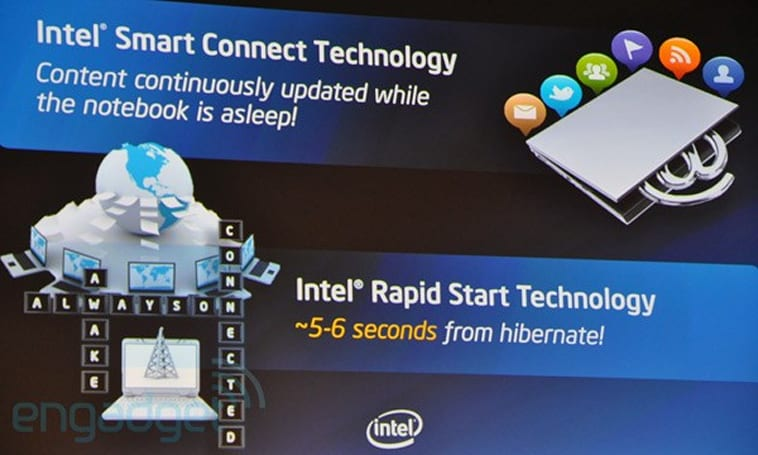 Intel Smart Connect and Rapid Start technologies unveiled, coming by the holidays