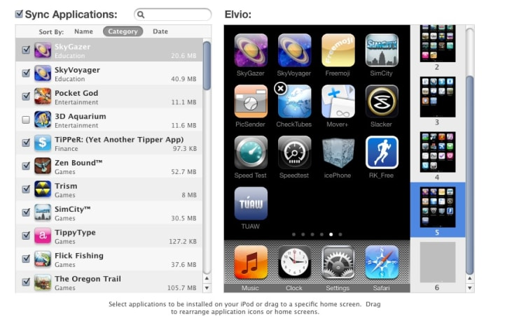 iTunes 9 Focus: Tips for editing your iPhone apps screens