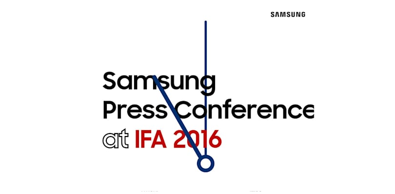 Live from Samsung's IFA 2016 press conference!