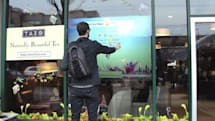 Interactive storefront displays show up at Canadian Starbucks, window licking discouraged