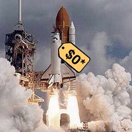 Space shuttle fire sale! Free after $28.8m in S&H and some Congressional lobbying