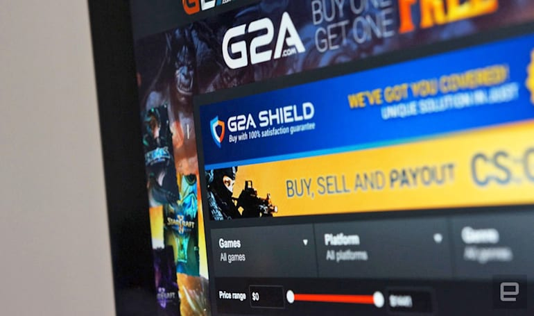 G2A makes it harder for scammers to sell shady game codes