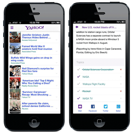 Yahoo iPhone app gets customized story summaries, improved search