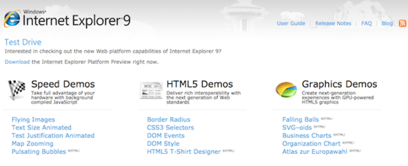 Microsoft shows off Internet Explorer 9: says 'yes' to HTML5, 'no' to Windows XP
